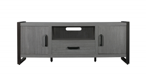 Dogue 63-inch TV Stand - Gunmetal - Gray