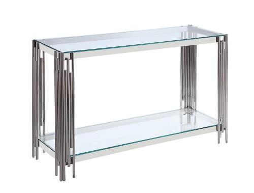 Porfirio Sofa Table with Glass Top