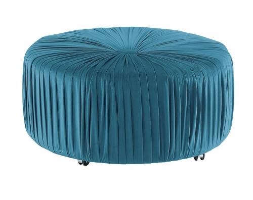 Jaunt Round Ottoman - Blue