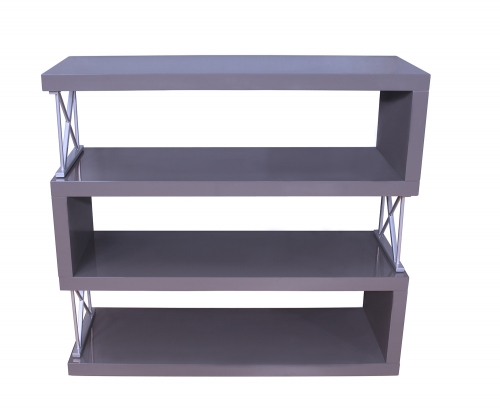 Netto Bookcase - Gray High Gloss