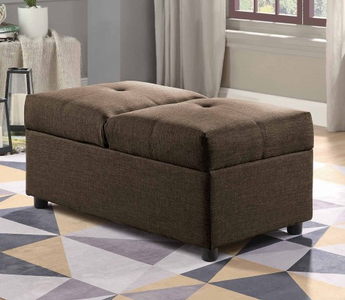 Homelegance Denby Storage Ottoman/Chair - Brown