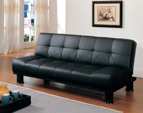Fruitvale Elegant Lounger Black Bi-Cast Vinyl