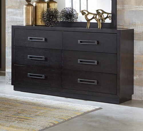 Larchmont Dresser - Charcoal Finish over Ash Veneer