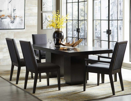 Homelegance Larchmont Dining Set - Charcoal - Over Ash Veneer.