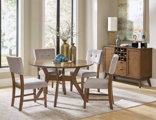 Coel Round Dining Set - Natural