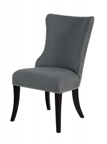 Salema Side Chair - Gray - Dark Brown