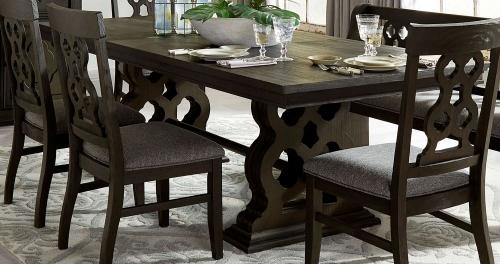 Arasina Dining Table - Dark Pewter