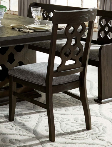 Arasina Side Chair - Dark Pewter