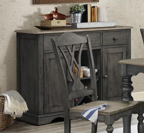 Hyacinth Server - Oak Wash and Gray