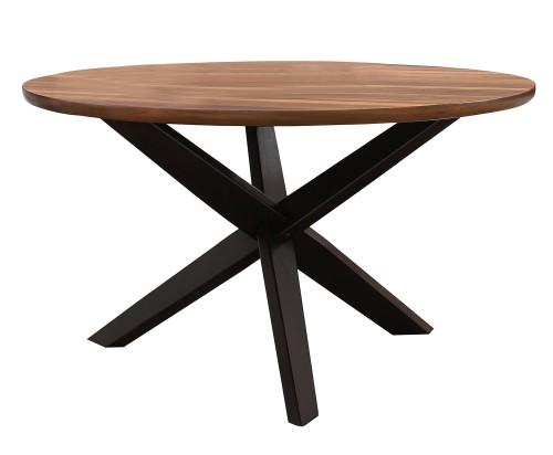 Nelina Round Dining Table - Espresso-Natural