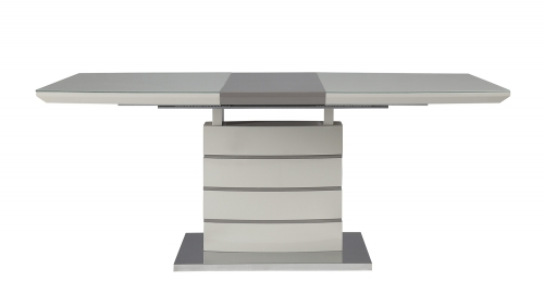 Glissand Dining Table - Glossy - Grey-Taupe Bi-Cast Vinyl