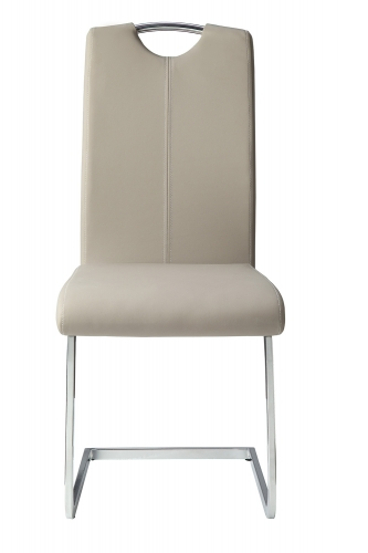 Glissand Side Chair - Glossy - Grey-Taupe Bi-Cast Vinyl