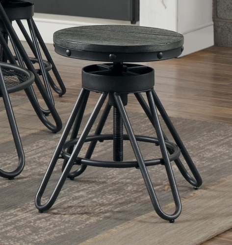 Cirrus Round Stool - Weathered Gray