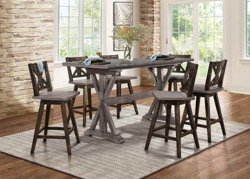 Amsonia Counter Height Dining Set - Rustic Gray