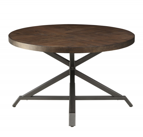 Fideo 3-Piece Cocktail/Coffee Tables - Pine Veneer - Gray Metal