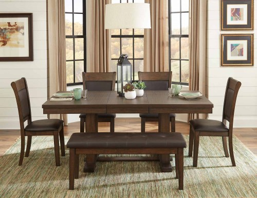 Wieland Dining Set - Light Rustic Brown