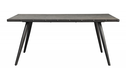 Palladium Dining Table - Elm Solid - Grey Powder Coated Metal