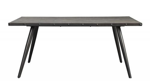 Palladium Dining Table - Elm Solid - Grey Powder Coated Metal