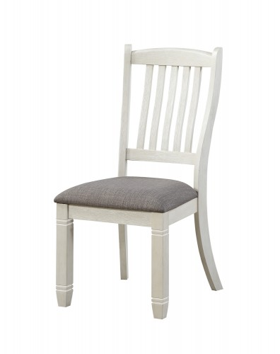 Granby Side Chair - Antique White - Rosy Brown