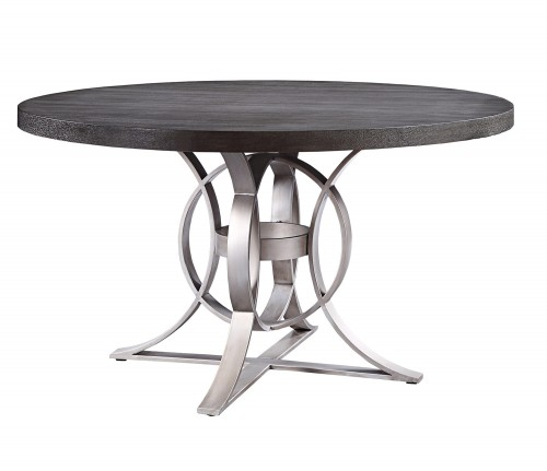 Standish Round Dining Table - Gray