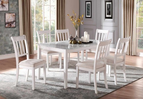 Nadalia Dining Set - White