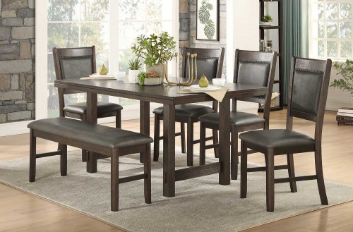 Brim Dining Set - Brown Cherry