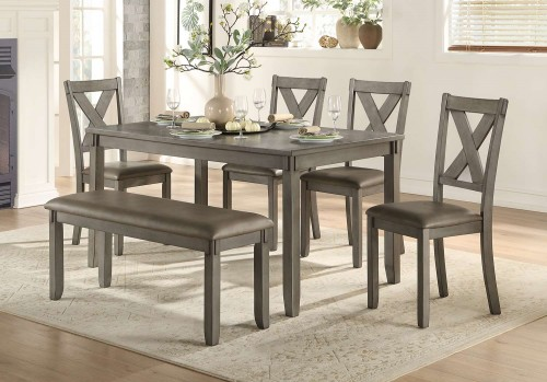 Holders 6-Piece Pack Dinette Set - Bench: 46 x 16 x 19H
