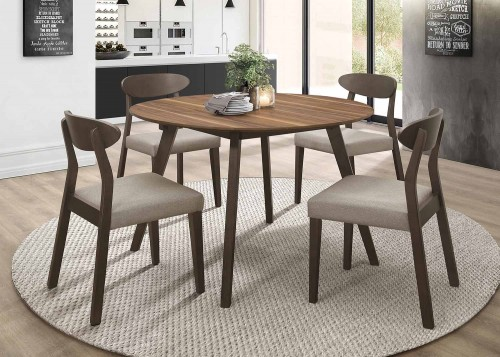 Beane Round Dining Set - Walnut 2-Tone