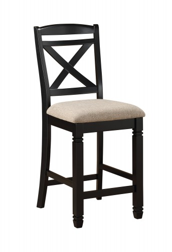Baywater Counter Height Chair - Black -Natural