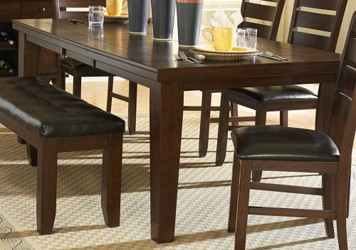 Ameillia Dining Table - Dark Oak Finish