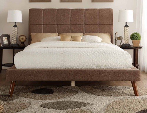Kinsale Upholstered Bed - Brown