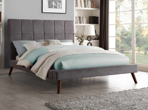 Kinsale Upholstered Bed - Gray