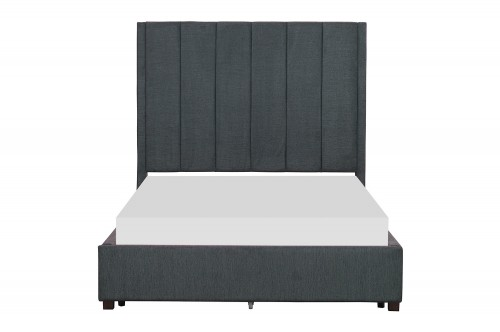 Neunan Platform Bed - Dark Gray