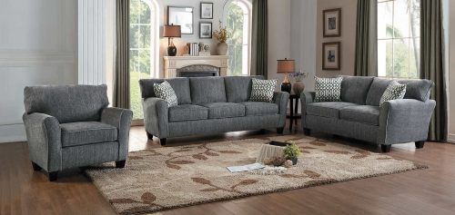 Homelegance Alain Sofa Set - Gray
