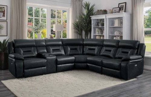 Amite Power Reclining Sectional Sofa Set - Dark Gray