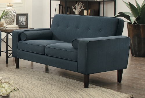 Corso Love Seat - Dark Gray