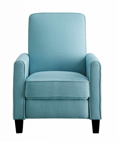 Darcel Push Back Reclining Chair - Blue