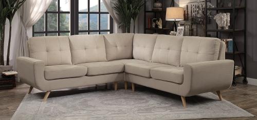 Deryn Sectional Sofa - Beige