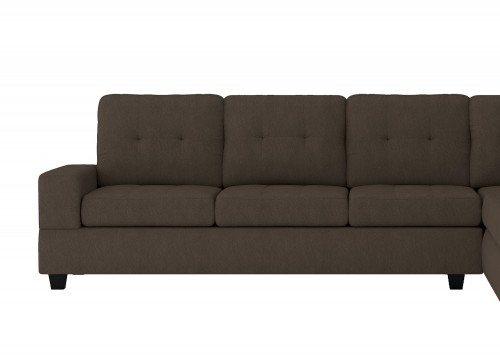 Homelegance Maston Reversible 3-Seater with Drop-Down Cup Holders, Left/Right Unit - Chocolate
