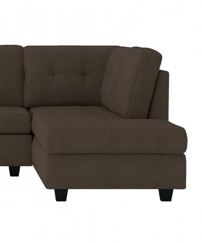 Homelegance Maston Reversible Chaise, Left/Right Unit - Chocolate