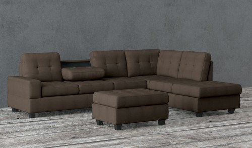 Maston Sectional Sofa Set - Chocolate