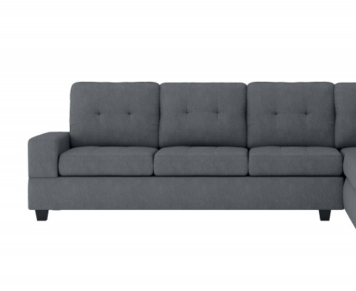 Homelegance Maston Reversible 3-Seater with Drop-Down Cup Holders, Left/Right Unit - Dark gray