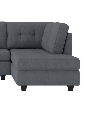 Homelegance Maston Reversible Chaise, Left/Right Unit - Dark gray