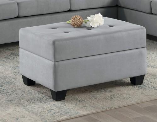 Homelegance Maston Storage Ottoman - Light gray