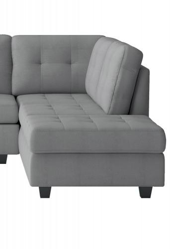 Homelegance Maston Reversible Chaise, Left/Right Unit - Light gray