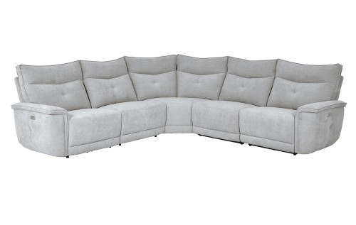 Tesoro Power Reclining Sectional Sofa Set - Mist Gray