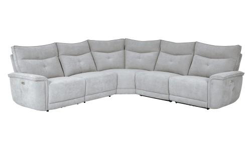 Tesoro Power Reclining Sectional Sofa Set - Mist Gray