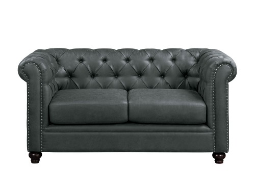 Wallstone Love Seat - Gray