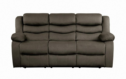 Discus Double Reclining Sofa - Brown