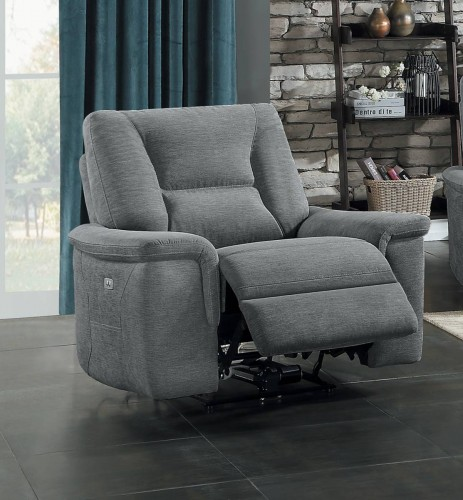 Edelweiss Power Reclining Chair - Metal gray